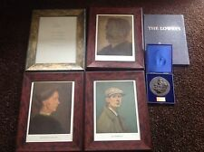 L S  Lowry Self Portrait & Mother & Father Bronze Plaque And Letter All 95/300