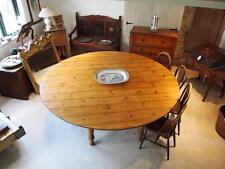 Table large Edwardian Pine collapsible dining table c1910
