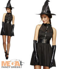 Bewitching Witch Ladies Halloween Fancy Dress Witches Fairytale Adults Costume