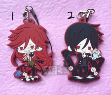 T150 Hot Japan anime Black Butler Rubber Keychain Key Ring Rare cosplay 123