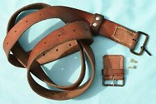 Swedish Mauser Carbine M1894 M94 leather sling UNISSUED buckle keeper nickel