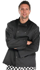 Chefs Jacket White or Black Long Sleeve Buttons Catering
