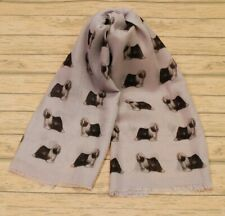 Tibetan terrier womens scarf with dogs on ladies fashion printed wrap shawl gift