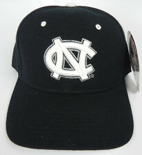 NORTH CAROLINA TAR HEELS BLACK NCAA VINTAGE FITTED SIZED ZEPHYR DH CAP HAT NWT!