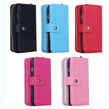 Zipper Wallet Purse with Magnetic Phone Case PU Leather for iPhone 6 6s Plus