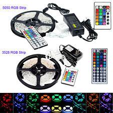 Hot 5M 10M 20M LEDs SMD 3528/5050 RGB Flexible Strip String Light (Remote+Power)
