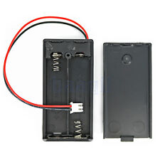 2X AA 1.5V Black Plastic Battery Box Case Storage Holder With Cover/Switch MA