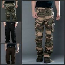 Autumn Men Casual Military Army Cargo Camo Combat Work Pants Camouflage Trousers