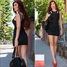 NEW SEXY SLEEVELESS MINI DRESS XS S M L STRETCH BODYCON DRESSES PARTY CLUBBING