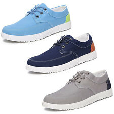 England Mens Canvas Sneakers Lace Up Sport Athletic Flats Walking Casual Shoes