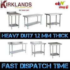 """Stainless Steel Table Work Bench Catering Table Kitchen Top 6 Foot 72"""" 1800mm"""