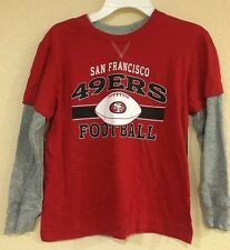 San Francisco 49ERS Toddler Long Sleeve T-shirt, Thermal Sleeves - Sizes - S & M
