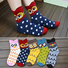 Fashion Unisex Women Winter Warm Animal Print Soft Cotton Cartoon Owl Socks