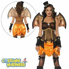 Steam Punk Victorian Sexy Bat Costume- Adult Woman Outfit Fancy Dress