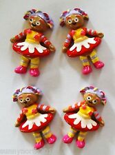 IN THE NIGHT GARDEN UPSY DAISY RESIN FLATBACKS CRAFTS RIBBON CUPCAKE TOPPERS