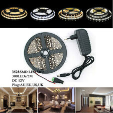 5/10/15M 3528 Waterproof / Non-waterproof LED SMD Flexible 300 Leds Strip Light