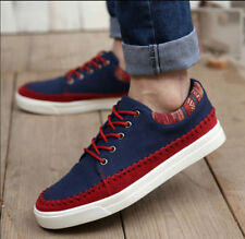 New Mens Breathable Canves Shoes Casual Lace Up Fashion Sneakers Walking Loafers