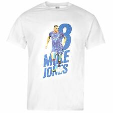 Oldham Athletic FC 8 Minke Jones T-Shirt Mens Wht Football Soccer Top Tee Shirt