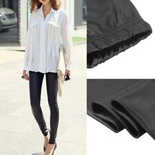 Fashion new  Women Faux PU Leather Skinny Pencil Pants Tights Trousers DP