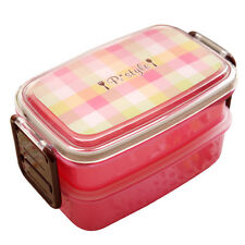 2 Tier Bento Lunch Box Meal Boxes Microwave Tableware Food Storage Container