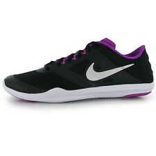 Nike Studio Training Shoes Womens Black/Purple Gym Fitness Trainers Sneakers