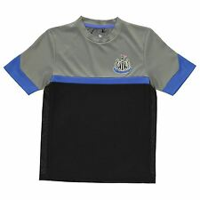Newcastle United FC Poly T-Shirt Infants Black/Grey Football Soccer Top Tee