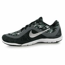 Nike Flex Trainer 6 Printed Training Shoes Womens Grey/Grey Trainers Sneakers