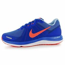 Nike Dual Fusion X2 Running Shoes Womens Blue/Mango Fitness Trainers Sneakers