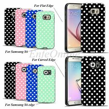 New Samsung Galaxy S6 / S6 Edge Soft Rubber Hard TPU Cute Polka-dot Case Cover
