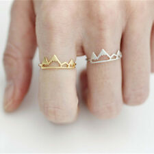 Fashion Ladies Girls Cute Lovely Mountain Adjustable Opening Ring Jewelry Gift