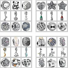925 Sterling Silver Charms Fine European Bead Fit Fashion Woman Bracelets Chain