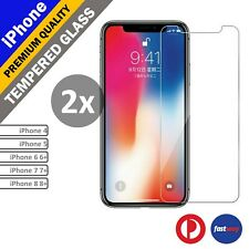 2X Anti Scratch Tempered Glass Screen Protector film for iPhone 7 7 plus 6s 5s 4