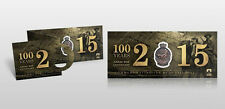 ANZAC CENTENARY THE GREAT WAR GALLIPOLI TRI FOLD LIMITED 100 YEARS MEDALLION