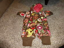 HANNA ANDERSSON 60 BROWN FLORAL SNOWSUIT