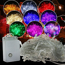 10M 100LED White String Fairy Lights Party Christmas Decor Outdoor Indoor EU