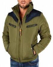 Men Winter Jacket DIESEL WENNO 51F Green Hooded Puff Bomber Jacket Size RRP£250