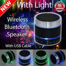 Bluetooth Wireless Mini Portable Speaker for iPhone iPad MP3 + LED Light Dancing