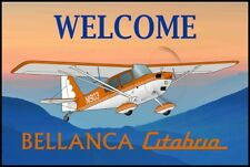 Bellanca Citabria 7KCAB Airplane Welcome Mat - Personalized with your N#
