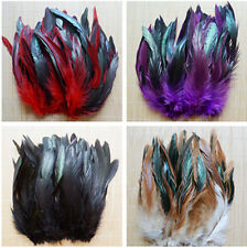 100pcs Lots Colorful Assorted 3-5inch/8-15cm Beautiful Rooster Tail Feathers