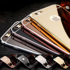 Luxury Aluminum Ultra-thin Mirror Metal Rugged Case Cover For iPhone 7 7 Plus
