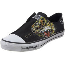 Ed Hardy Authentic Lowrise Fashion Sneaker Shoes For Men Black