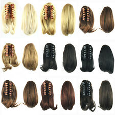 Claw Ponytail Hair Extension Synthetic Hair Little Pony Tail Clip Hairpieces