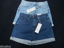 M&S Limited Edition Sizes 8 10 12 16 High Waisted Denim Shorts Bnwt Free Postage