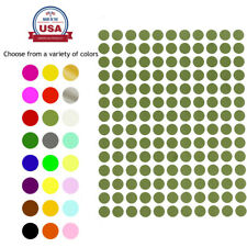 """Color Coding Labels 3/8 """" Round 10 Colors Svailable 700 Pack 5 Sheets 10mm"""