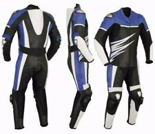 TRACK ROAD MEN LEATHER SUIT MOTORBIKE/MOTORCYCLE LEATHER SUIT JACKET TROUSER