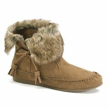 NEW $60 WOMENS MADDEN GIRL FINN CASUAL BROWN MOCCASIN ANKLE BOOTS 6,7~Awesome!