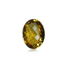 8x6 mm AAA Oval Double Sided Checkered Board Citrine ( 1 pc ) Loose Gemstone