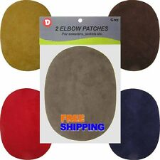 Iron-On Faux Suede, Denim Oval Elbow Repair Patches Compare to Bondex