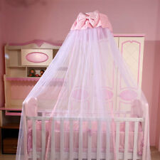 Hanging Baby Mosquito Net Princess Crib Netting Bed Canopy with Bowknot Decor