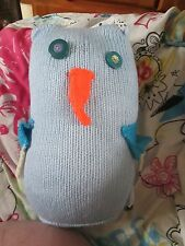 Pale Blue Giant Owl - Knitted By KittyMumma